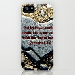 By His Strength iPhone Case