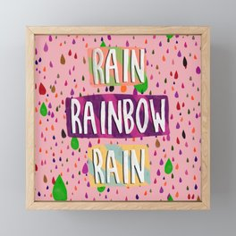 Raining bow Framed Mini Art Print