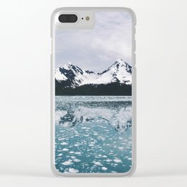 Icy Kenai reflection Clear iPhone Case