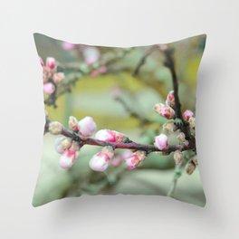 Cherry flower bud Throw Pillow