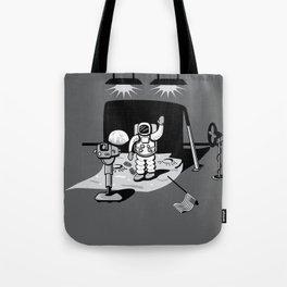 1969: Moonwalk hoax Tote Bag