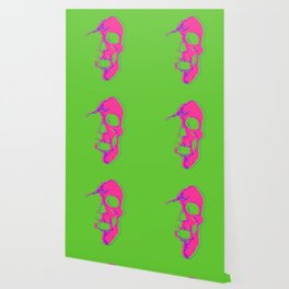 Skull - Pink Wallpaper