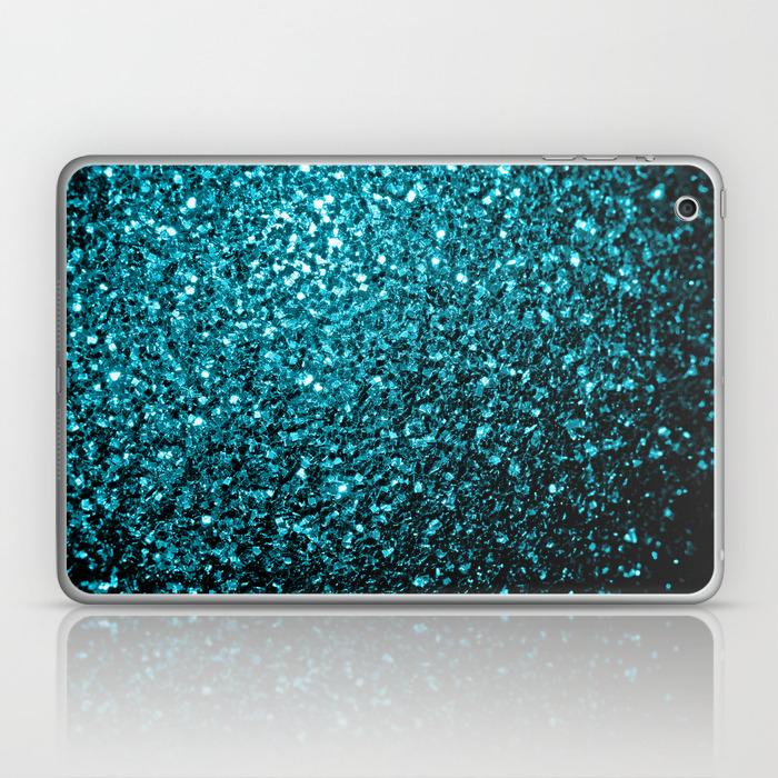 Beautiful Aqua Blue Glitter Sparkles Laptop Ipad Skin By Pldesign Society6