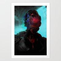 cyberpunk Art Prints featuring Cyberpunk #2 by Lunaramour