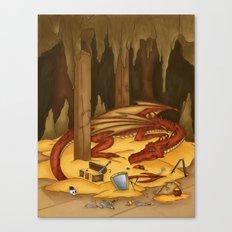 Smaug, the last dragon Canvas Print