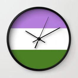 Genderqueer Flag Wall Clock
