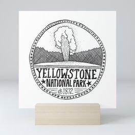 Yellowstone - Old Faithful Illustration Mini Art Print