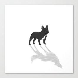 Wild At Heart - Black French Bulldog Canvas Print