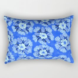 Blue Dakota Rose Rectangular Pillow