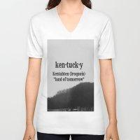 kentucky V-neck T-shirts featuring Kentucky by KimberosePhotography