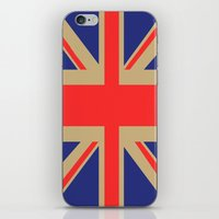 union jack iPhone & iPod Skins featuring Union Jack by MeMRB