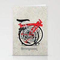 brompton Stationery Cards featuring Brompton Bike by Wyatt Design