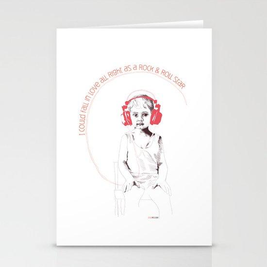 RocknRoll Boy Stationery Cards