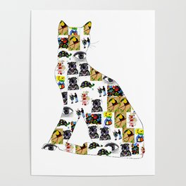 The Meow In A Collage Poster