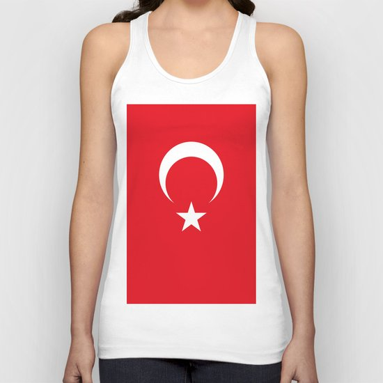 Flag of Turkey Unisex Tank Top