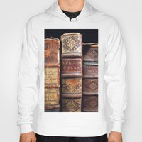 library Hoodies featuring Library by Mad Marys