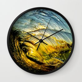 Sunset Barrel ~ Newport Beach Wall Clock