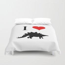 I Love Dinosaurs - Stegosaurus Duvet Cover