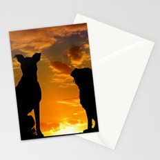 Dogs at Sunset Stationery Cards