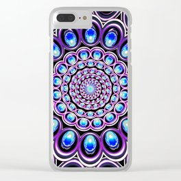 Turquoise Iterations: Sprinkles of Amethyst Clear iPhone Case