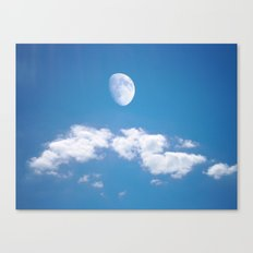 Daytime - Gibbous Moon  Canvas Print