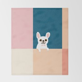 Little_French_Bulldog_Love_Minimalism_001 Throw Blanket