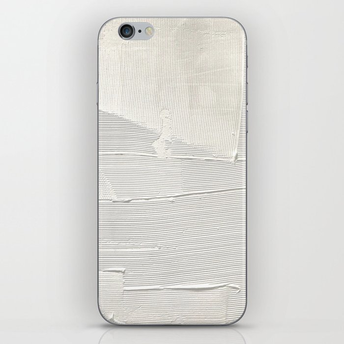 Relief [1]: an abstract, textured piece in white by Alyssa Hamilton Art iPhone Skin
