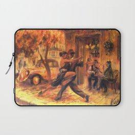 Couple dancing tango in Buenos Aires Laptop Sleeve