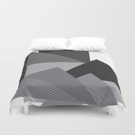 Black and White Triangles Duvet Cover