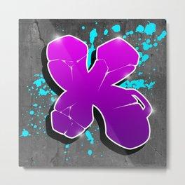 X - Graffiti letter Metal Print