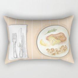 At the Dining Table Rectangular Pillow