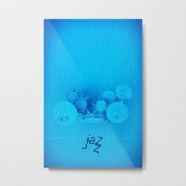Jazz Blue Accent Metal Print