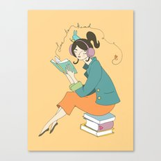 Love to Read Canvas Print