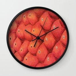 Red shoal Wall Clock