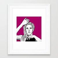 ellie goulding Framed Art Prints featuring Ellie Goulding by Sharin Yofitasari