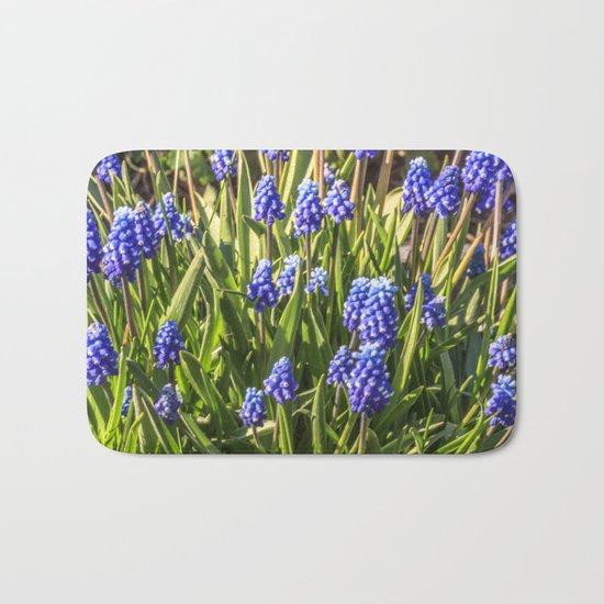 Grape hyacinths muscari Bath Mat