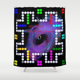 don't panic grande game Shower Curtain