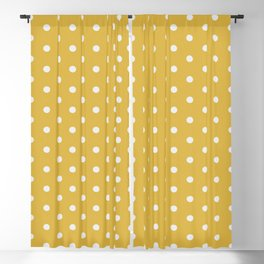 Pink Polka Mustard Blackout Curtain