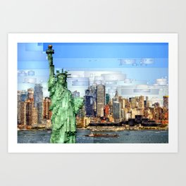 City of New York - Statue of Liberty Art Print