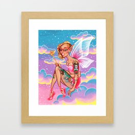 Millennial Fairy Framed Art Print