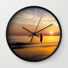 Iron Man on Crosby Beach Wall Clock