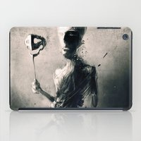 mask iPad Cases featuring Mask by Jarek Kubicki