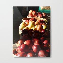 Light on the Apples Metal Print