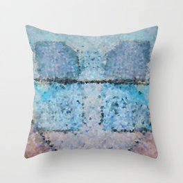 Cool Blue Throw Pillow