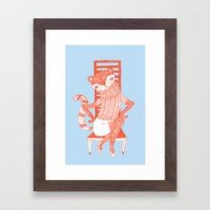 BEAR-CAT Framed Art Print