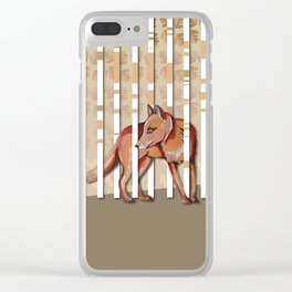 Lonely Fox In The Mountain High Clear iPhone Case