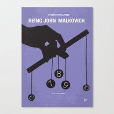 No009 My Being John Malkovich minimal movie poster Canvas Print