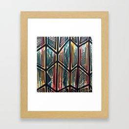 Jaded Jagged Framed Art Print