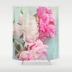 3 peonies Shower Curtain