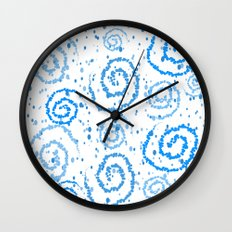 Abstract Blue Squigglisciousness Wall Clock